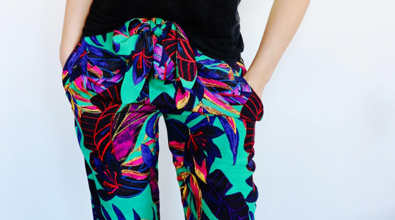 Pantalon fluide look imprimé