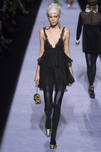 Petite robe noire et underwear Tom Ford