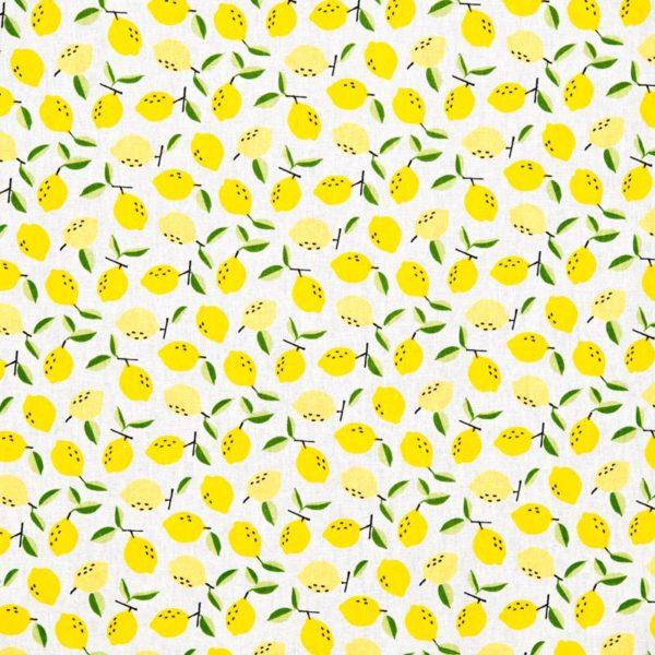 Tissu price coton citron